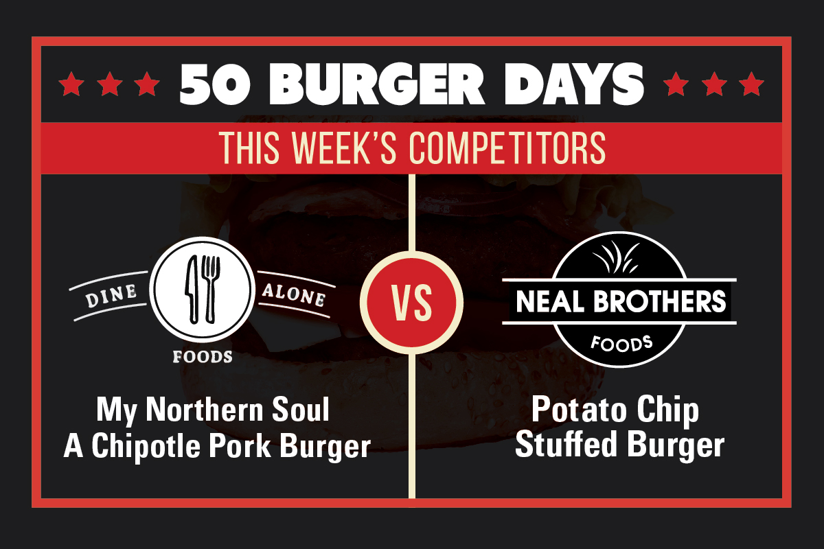 Our Northern Soul Chipotle Burger Faces Off in The VG Meats 50 Burger Days Challenge